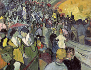 Fans Painting Metal Prints -  The Arena at Arles Metal Print by Vincent van Gogh