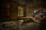 Dirty Window Prints -  The Asylum Project - Bathing Time Print by Erik Brede