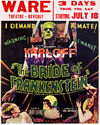 Lancaster Artist Metal Prints -  The Bride of Frankenstein Metal Print by Studio Artist