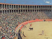 Fans Paintings -  The Bullfight by Ramon Casas i Carbo