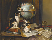 Globetrotters Framed Prints -  The Globetrotters Framed Print by Henriette Ronner