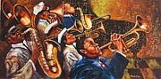 Jazz Painting Originals -  the great jazzmen of Louisiana by Yana Ranevska