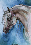 Horse Drawing Originals -  The Grey Arabian Horse 5 by Angel  Tarantella