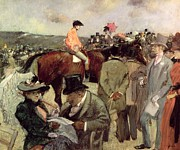 Reading The Paper Framed Prints -  The Horse Race Framed Print by Jean Louis Forain