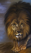 Courage Digital Art Framed Prints -  The Lion King Framed Print by Andrzej  Szczerski