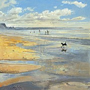 Playing On The Beach Posters -  The Little Acrobat  Poster by Timothy  Easton