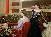 Flower Boxes Paintings -  The Lyceum by Ramon Casas i Carbo