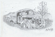 Gerald Griffin Art -  The Old Truck Lost In Time by Gerald Griffin