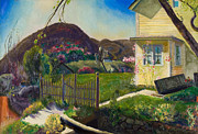 Yellow House Posters -  The Picket Fence Poster by George Wesley Bellows