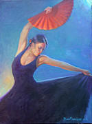 Conquistadores Paintings -  The Red Fan by Gwen Carroll