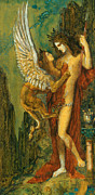 Moreau Framed Prints -  The Sphinx Framed Print by Gustave Moreau