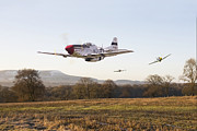 P51 Prints -  Through the Gap Print by Pat Speirs