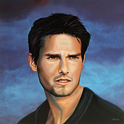 American Actor Posters -  Tom Cruise Poster by Paul  Meijering