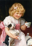 Puppy Digital Art -  Too Hot detail by Arthur John Elsley