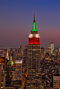 Empire State Framed Prints -  Top Of The Rock Framed Print by Susan Candelario