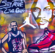 Bulls Painting Originals -  Truly Michael Jordan  by Tony B Conscious