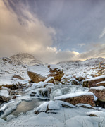 Llyn Idwal Posters -  Tryfan and Snowy River Poster by Beverly Cash