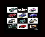 British Cars Framed Prints -  Twelve M Gs Poster Framed Print by Jack Pumphrey
