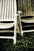 2 Seat Prints -  Two empty chairs Print by Lars Hallstrom