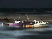 Marcia Lee Jones Prints -  Two Fishing Boats Print by Marcia Lee Jones