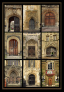Old Pyrography Prints -  UK doors Print by Christo Christov
