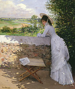 Newspaper Prints -  Un Figaro de Reve  Print by Jean Beraud