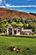 Wales Digital Art -  Valle Crucis Abbey - North Wales by George Standen