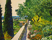 Rock Walls Prints -  View Of Provence Print by David Lloyd Glover