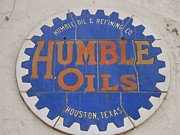 Companies Prints -  Vintage Humble Oils Sign Jefferson Texas Print by Donna Wilson