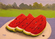 Patrick Paintings -  Watermelon on a Summer Day food art by Patrick ODriscoll