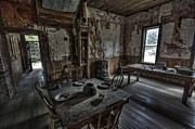 Missoula Prints -  Wells Hotel Dining Room - Garnet Ghost Town - Montana Print by Daniel Hagerman