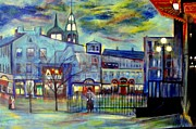 Rick Todaro Prints -  When Night falls   Quebec City Print by Rick Todaro