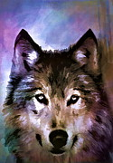 Watercolor Digital Art Originals -  Wolf by Andrzej  Szczerski