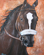 Zenyatta Paintings -  Zenyatta 2010 Horse of the Year by Patrice Torrillo