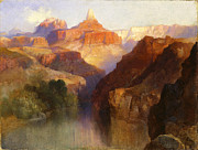 Thomas Moran - Zoroaster Peak Grand Canyon Arizona by Thomas Moran