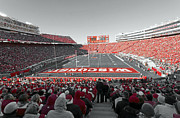 College Sports Prints - 0096 Badger Football Print by Steve Sturgill