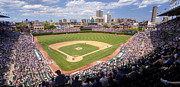 League Prints - 0100 Wrigley Field - Chicago Illinois Print by Steve Sturgill