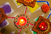 Festivals Of India Photos - 0159 280713 6300 Hindu Rangoli candle diva divali new year holi. by Kantilal Patel