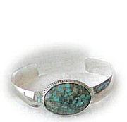 Silver Turquoise Jewelry - 0234 Silverdome by Dianne Brooks