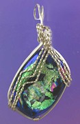 Deep Jewelry Originals - 0712 Green Lightning by Dianne Brooks