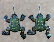 Frog Jewelry - 0808 Froggie Duo by Dianne Brooks