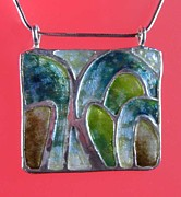 Silver Turquoise Jewelry - 0809 Cascades by Dianne Brooks
