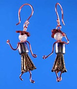 Dance Jewelry - 0957 Red Hattitudes by Dianne Brooks