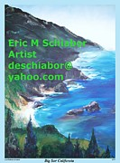 Beaches Drawings Prints -  Big Sur   Print by Eric  Schiabor