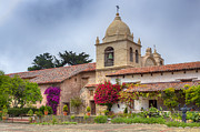 Buildings By The Sea Photo Prints -  Facade of the chapel Mission San Carlos Borromeo de Carmelo Print by Ken Wolter