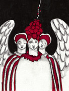 Angel Paintings -  Keepers No 9 by Milliande Demetriou