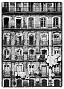Old Windows Posters -  Lisbon - 18th Century Facade  Poster by Lusoimages