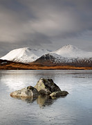 Snow-covered Landscape Photo Prints -  Lochan na h-Achlaise Print by Grant Glendinning