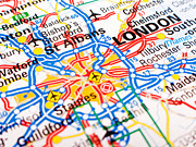 Road Map Art -  London by Lusoimages  