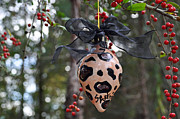 Black Ceramics Originals -  Majolica Maiolica Ornament by Amanda  Sanford